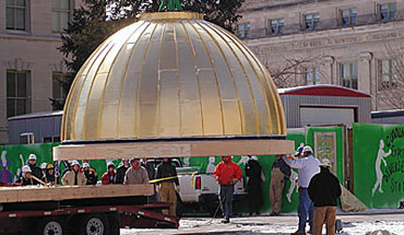 dome with oculus leaves transport
