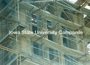 iowa state campanile reconstruction