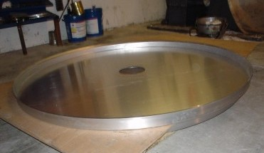 top plate prior to cut and onlay