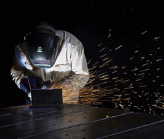 Welding at Barnes Manufacturing