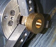 machined brass cone