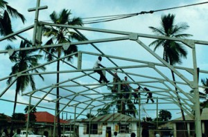 barnes manufactured steel structure international project