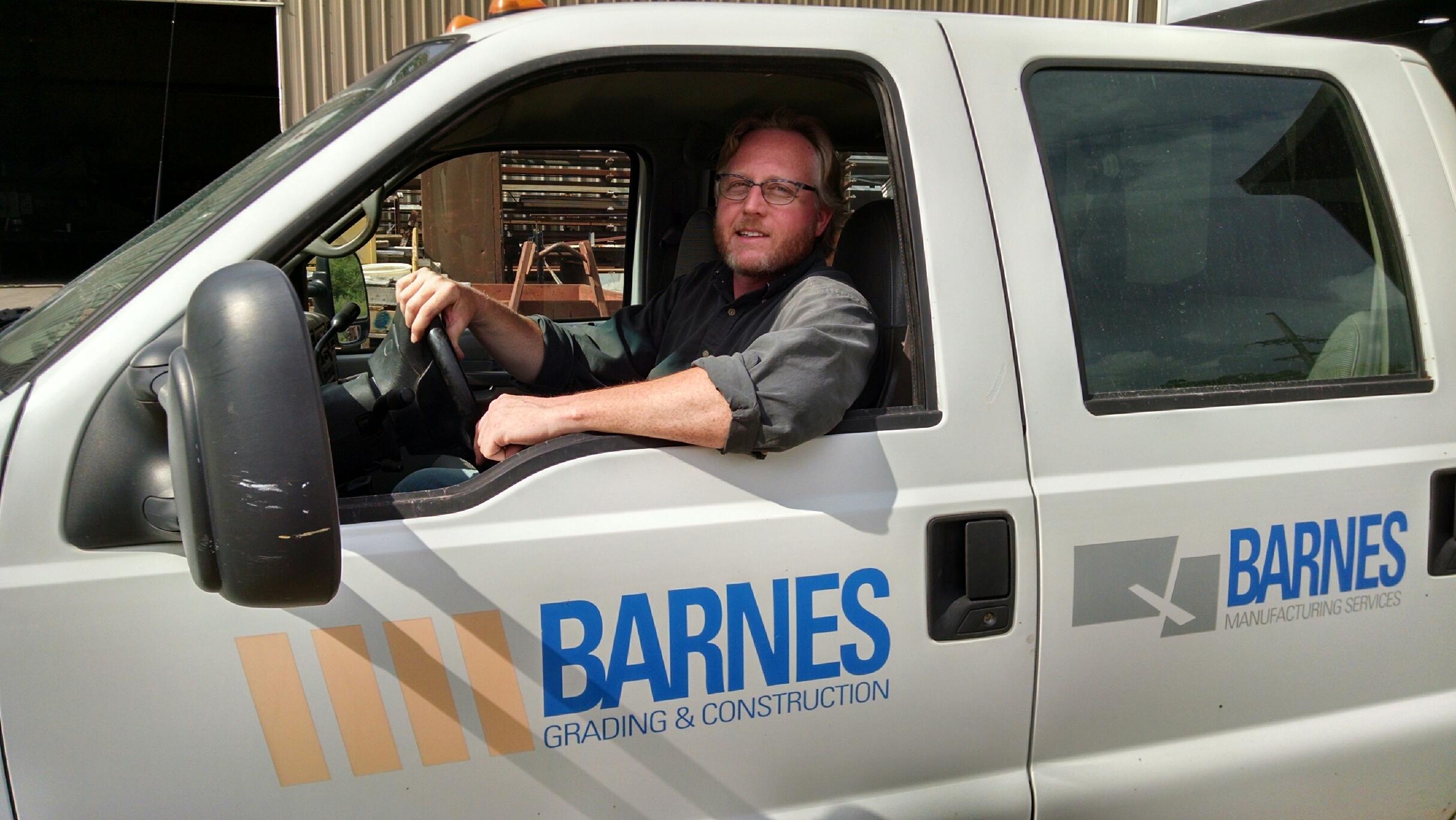 Bob in Barnes delivery truck